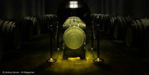 Barrique de vin en cristal Lalique à Sauternes